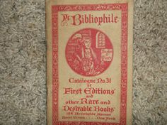 De Bibliophile, Catalogue No. 31 of First Editions