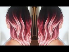 Hellocindee - FULL LENGTH TUTORIAL | Purple & Pink Ombre!! *Done on Black hair* - YouTube