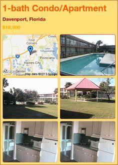 1-bath Condo/Apartment in Davenport, Florida ►$18,900 #PropertyForSale #RealEstate #Florida http://florida-magic.com/properties/7787-condo-apartment-for-sale-in-davenport-florida-1-bathroom