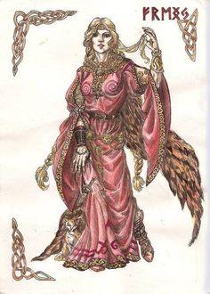 Freyja es descrita en las Eddas como la diosa del amor, la belleza y la fertilidad. Era invocada para obtener felicidad en el amor, asistir en los partos y para tener buenas estaciones. También era asociada con la guerra, la muerte, la magia, la profecía y la riqueza. Las Eddas mencionan que recibía a la mitad de los muertos en combate en su palacio llamado Fólkvangr, mientras que Odín recibía la otra mitad en el Valhalla. El origen del seid y su enseñanza a los Æsir se le atribuía a ella.