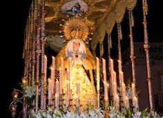 Fotografía de Gonzalo Gallego Moreno-Palancas. Virgen de los Dolores, titular de la procesión del Viernes de Dolores -Herencia- Realizada con cámara.