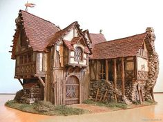 INCREDIBLE miniature barn, by the talented Wolfgang Jädtke