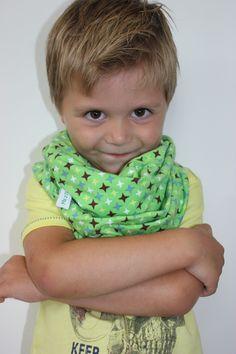 colsjaal, naaien, stof, tricot, jongen, boy, kids, cowl, shawl