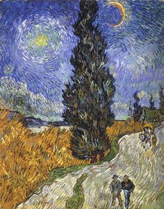 Vincent van Gogh: Country road in Provence by night, 1890