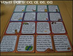 Phonics Stories: 36 long vowel stories in two formats (printable and laminated story cards)