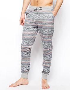 ASOS Slim Fit Lounge Sweatpants With Aztec Print