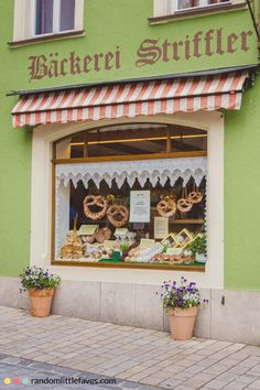A bakery in Rothenburg ob der Tauber, Germany.