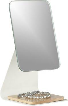 Beechwood Adjustable Tabletop Mirror  | Crate and Barrel