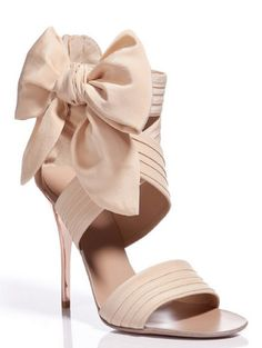 gorgeous shoe. big bow, not just a ribbon.