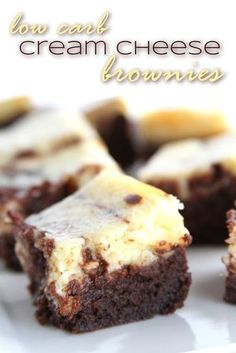 Sugar Free Low Carb and Yet Really Good Cream Cheese Brownies | DoughMessTic.com