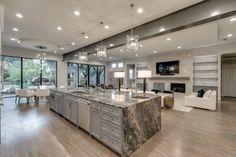 This Willow Bend Wonderland is One of a Kind - D Magazine Luxury Kitchen Design, Dream Home Design, Luxury Kitchens, House Design, Dream Kitchens, Modern Mansion Interior, Modern Architecture House, Home Interior Design, Mansion Kitchen
