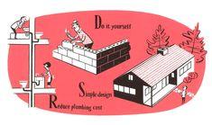 Build your own home : illustration by Satoshi Hashimoto www.dutchuncle.co.uk/satoshi-hashimoto
