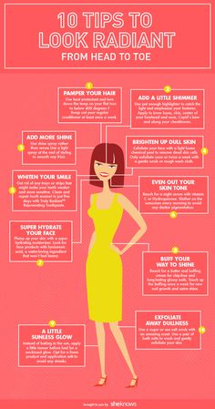 10 Beauty tips that will make you look more radiant (INFOGRAPHIC) Health Clear Skin Health Remedies Health Tips Health For women Health Natural Health Tips Skin Tips, Skin Care Tips, Makeup Tips For Redheads, Makeup Tricks, Beauty Secrets, Beauty Hacks, Exfoliating Body Scrub, Skin Care Routine 30s, How To Grow Eyebrows