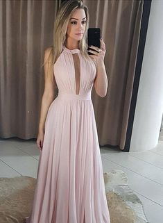 Custom Made Luxurious Chiffon Bridesmaid Dresses, Pink Prom Dress, Simple Prom Dress, Long Bridesmaid Dresses Cheap Formal Dresses, Pink Prom Dresses, Junior Bridesmaid Dresses, Prom Party Dresses, Pink Dress, Dress Prom, Wedding Dresses, Pink Evening Dress, Evening Dresses