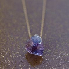 Raw Amethyst Necklace Gold Filled February por ShopClementine