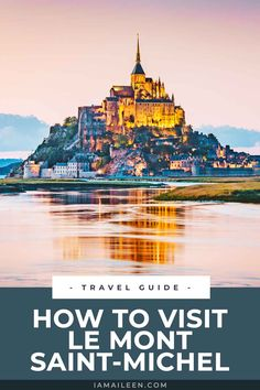 There's more to France than Paris. For starters, check out this fairytale-like island and walled city of 'Le Mont Saint Michel' in Normandy! // #France #Castle Europe Travel Tips, Travel Guide, Travel Destinations, World Of Wanderlust, Wanderlust Travel, Travel Around The World, Around The Worlds, Normandy France, Walled City