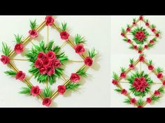 Diy simple home decor - paper flower wall decorations - easy wall decoration ideas Paper Flower Wall, Flower Wall Decor, Diy Wall Decor, Flower Decorations, Paper Flowers, Diy Home Decor, Wall Decorations, Green House Design, Diy And Crafts