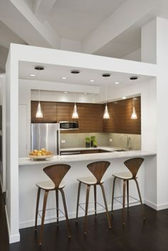 i like the set up with the kitchen triangle and the colors more windows please wood island farmhouse crown molding breakfast bar tradition - Design Kitchen Table