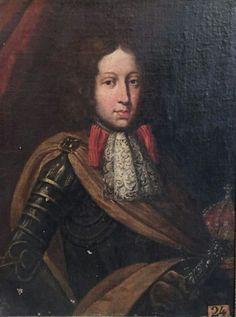 Portrait d'une altesse royale avec une couronne fermé e et une épée ornée de diamants, attribué à Jacob Ferdinand Voet