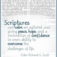 Be sure to make reading the scriptures a part of your everyday life. What a great feeling comes with reading them. :) #scriptures #lds #ldsthoughts / http://www.contactchristians.com/?p=13825