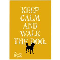 Keep Calm and Walk the Dog Art Print Wall Decor  par GoingPlaces2, $14.00
