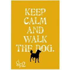 Keep Calm and Walk the Dog Art Print Wall Decor  par GoingPlaces2, $14.00