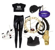"""99 Problems.."" by lauren-ilana ❤ liked on Polyvore featuring Benzara, rag & bone, Converse, Roberto Coin and Gucci"