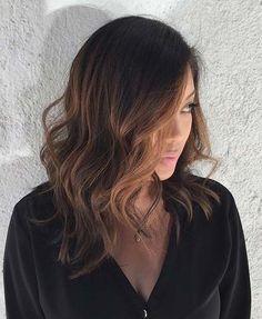 Lob Haircut Idea for Brunettes