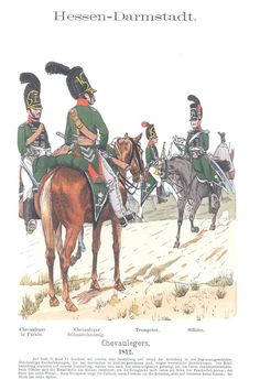Band VIII #13.- Hessen-Darmstadt. Chevaulegers. 1812.