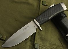 BUCK Ultimate Camping Survival Hunting Outdoor Fixed Blade Knife k009 white