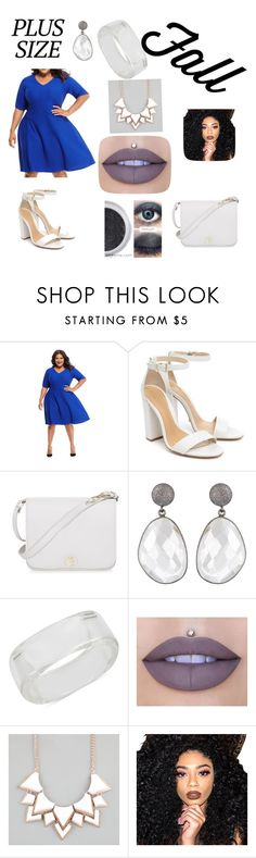 """""""Plus size fashion forward"""" by destiny-herrman ❤ liked on Polyvore featuring Maggy London, Schutz, Furla, INC International Concepts, Jeffree Star, Full Tilt and Kylie Cosmetics"""