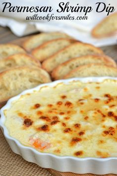 This Parmesan Shrimp Dip is very simple and incredible delicious! from willcookforsmiles.com