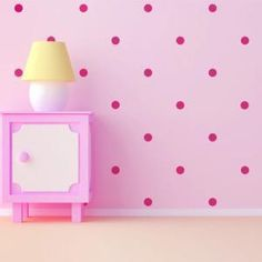 Hot Pink Room Dots Wall Decals