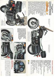 Moto Guzzi California II brochure Moto Guzzi California, Bmw R1200rt, Motorcycle Posters, Old Motorcycles, Steve Mcqueen, Brochures, Ducati, Motorbikes, Ties