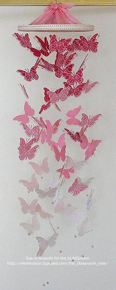 DIY Nursery Mobiles : DIY Butterfly Mobile by Susan Roberts