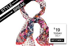 STYLE BREAK! Get the Lulu Scarf for $19. Today only!
