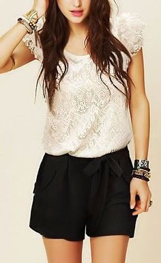 Lace Belted Jumpsuit <3  Quite pretty to wear :)