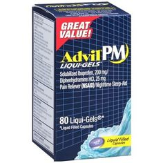 AdvilPM Pain and Nighttime Ibuprofen Sleep Aid Liqui-Gels - 80ct