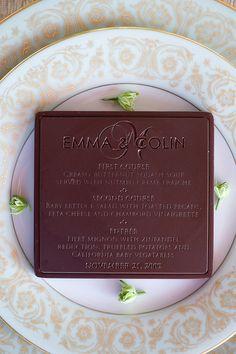 menu in chocolate