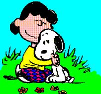 lucy and snoopy photo: snoopy lucy hug hugs.gif