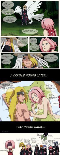 Lol Sakura and deidara  xD oh sakura x3