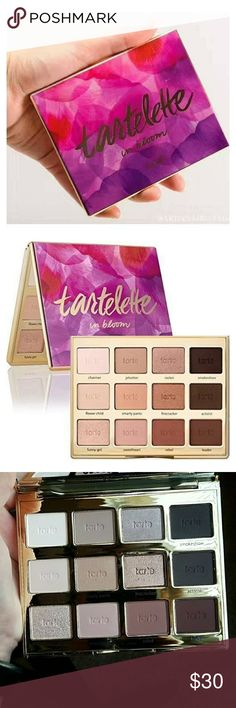 Brand New Tarte Tartelette 2 in Bloom Pallet A brand new authentic Tarte Tartelette 2 in Bloom Palette. Comes with original packaging. I accidentally ordered two and don't want this one to go bad before I use up the other one. From Sephora. Brand new, never used or swatched. This is an amazing versatile palette for the perfect every day look or a night time smoky eye.  Please keep in mind that Posh keeps 20%. Bundle and save! No trades. tarte Makeup Eyeshadow