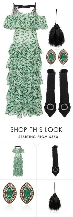 """Untitled #9985"" by cherieaustin on Polyvore featuring Giambattista Valli, Oscar Tiye, Sorellina and Attico"