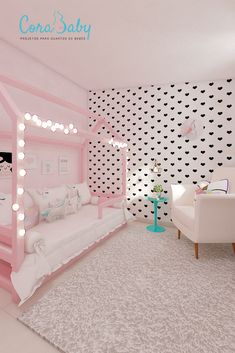 Girls Room Design, Kids Bedroom Designs, Room Design Bedroom, Room Ideas Bedroom, Home Room Design, Bedroom Decor, Little Girl Bedrooms, Girls Bedroom, Cute Room Decor