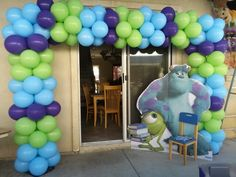 Monster inc. Balloon arch