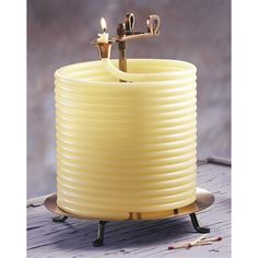 Candle By The Hour; 144 Hour Beeswax Coil Candle.  I Want This Candle!