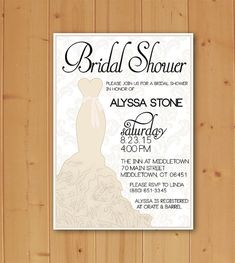 Planning an upcoming First Bridal Shower? Check out this Beautiful and Unique Invitation! Completely customizable and quick and easy to print!