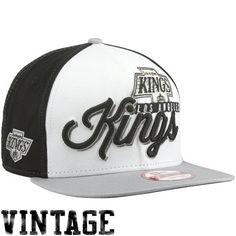 New Era Los Angeles Kings Chriograph 9Fifty Snapback Hat -  Silver Black White by 9ebcf31961c