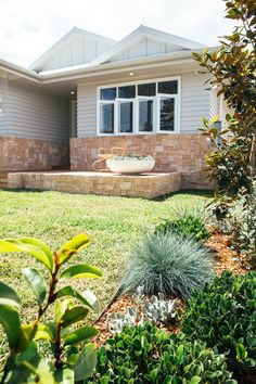 Kyal and Kara have project managed, designed or completed over 25 renovation projects. Front House Landscaping, Backyard Landscaping, Coastal Landscaping, Facade Design, House Design, Weatherboard Exterior, Outdoor Living, Outdoor Decor, Outdoor Pergola