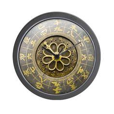 Antique Japanese Wall Clock on CafePress.com